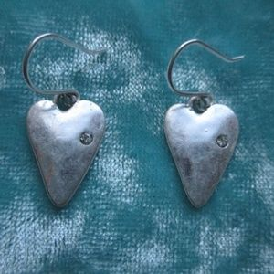 "Chloe + Isabel ""Take Heart Earrings"" Silver Plated"